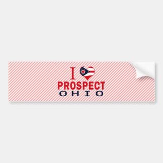 I love Prospect, Ohio Car Bumper Sticker