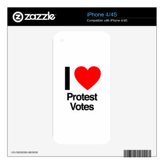 i love protest votes skin for the iPhone 4