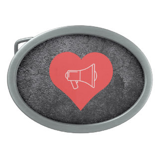 I Love Protests Icon Oval Belt Buckles