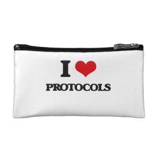I Love Protocols Cosmetics Bags