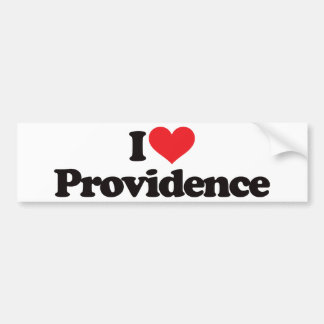 I Love Providence Bumper Sticker