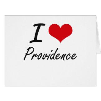 I Love Providence Large Greeting Card