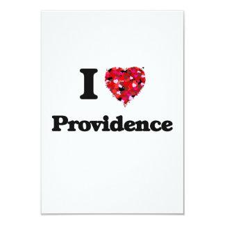 I love Providence Rhode Island 3.5x5 Paper Invitation Card
