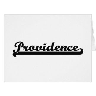 I love Providence Rhode Island Classic Design Large Greeting Card