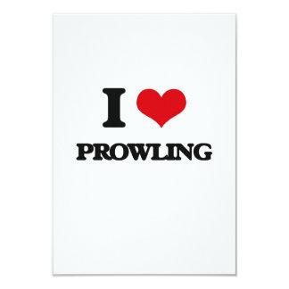 "I Love Prowling 3.5"" X 5"" Invitation Card"