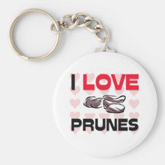 I Love Prunes Basic Round Button Keychain