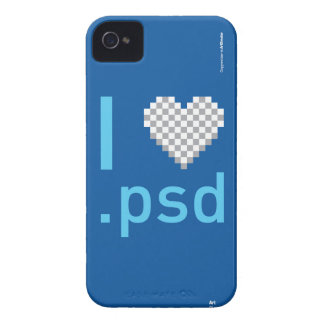 I Love .PSD iPhone 4 Cases
