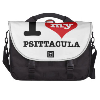 I Love psittacula Laptop Bags