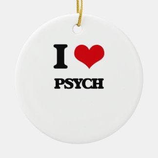 I Love Psych Ceramic Ornament