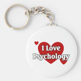 I love Psychology Basic Round Button Keychain