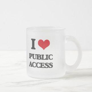 I Love Public Access 10 Oz Frosted Glass Coffee Mug