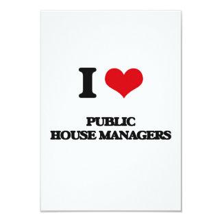 "I love Public House Managers 3.5"" X 5"" Invitation Card"