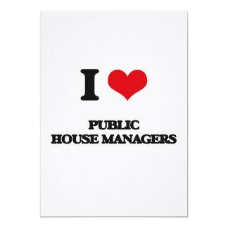 "I love Public House Managers 5"" X 7"" Invitation Card"
