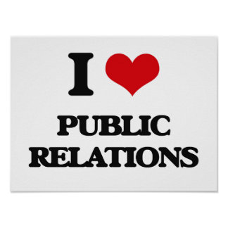 I Love Public Relations Poster