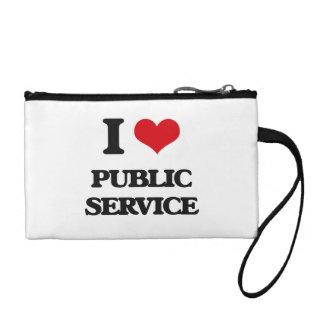 I Love Public Service Coin Purse