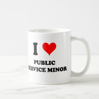 I Love Public Service Minor Mugs