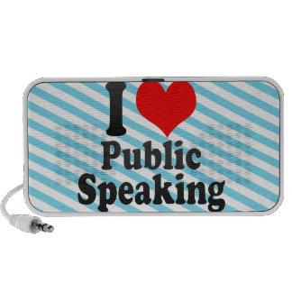I love Public Speaking iPod Speakers