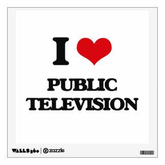 I Love Public Television Room Sticker