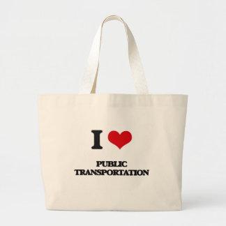 I Love Public Transportation Jumbo Tote Bag