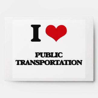 I Love Public Transportation Envelope