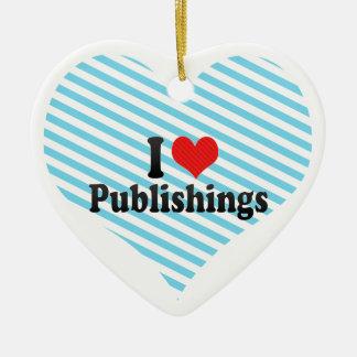 I Love Publishings Double-Sided Heart Ceramic Christmas Ornament