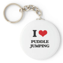 I Love Puddle Jumping Keychain