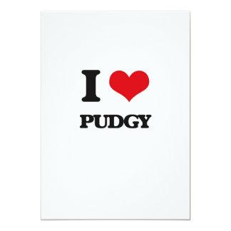 "I Love Pudgy 5"" X 7"" Invitation Card"