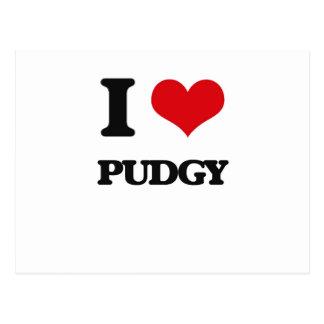 I Love Pudgy Postcard
