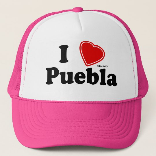 I Love Puebla Trucker Hat