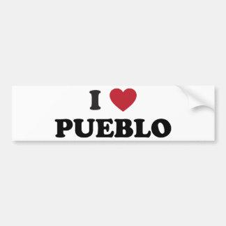 I Love Pueblo Colorado Car Bumper Sticker