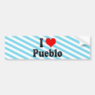 I Love Pueblo, United States Car Bumper Sticker