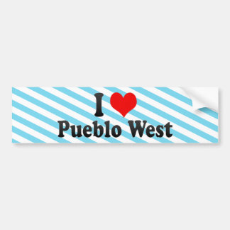 I Love Pueblo West, United States Car Bumper Sticker