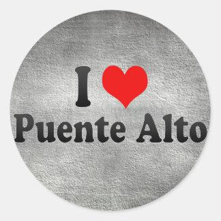 I Love Puente Alto, Chile Classic Round Sticker