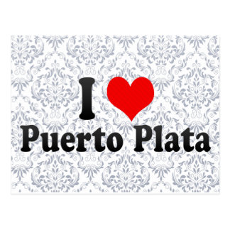 I Love Puerto Plata, Dominican Republic Postcard