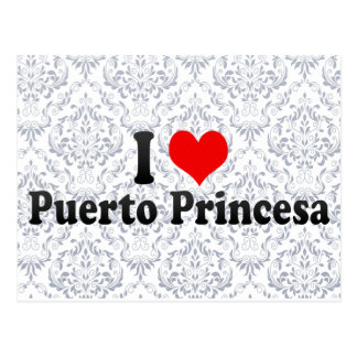 I Love Puerto Princesa, Philippines Postcard