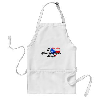 i love puerto rican boys adult apron