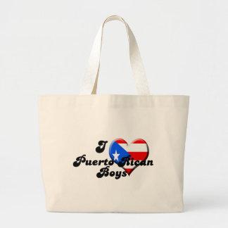 i love puerto rican boys jumbo tote bag