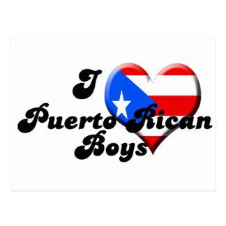 i love puerto rican boys postcard