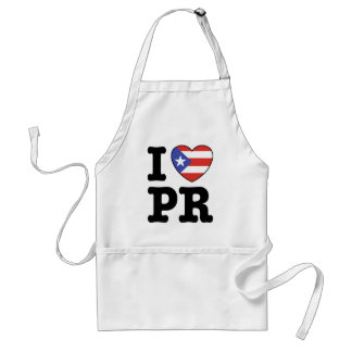 I Love Puerto Rico Adult Apron