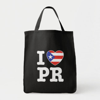 I Love Puerto Rico Tote Bags
