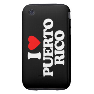 I LOVE PUERTO RICO iPhone 3 TOUGH COVER
