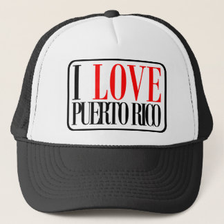 I Love Puerto Rico Design Trucker Hat