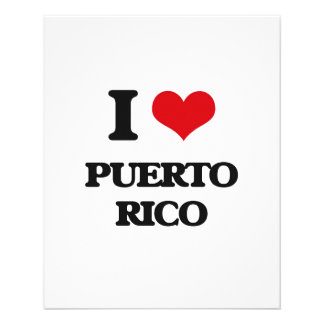 I Love Puerto Rico Personalized Flyer