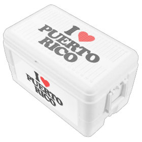 I LOVE PUERTO RICO IGLOO CHEST COOLER