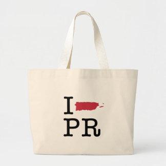 I Love Puerto Rico Large Tote Bag