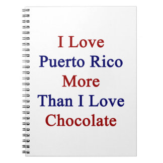 I Love Puerto Rico More Than I Love Chocolate Spiral Note Book