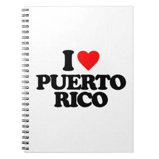 I LOVE PUERTO RICO NOTE BOOK