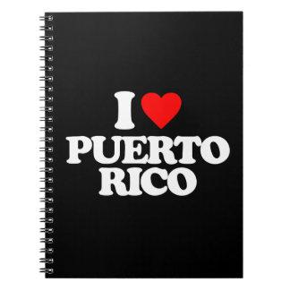 I LOVE PUERTO RICO NOTEBOOK