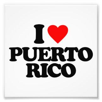 I LOVE PUERTO RICO PHOTOGRAPH