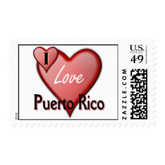 I Love Puerto Rico Stamps